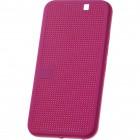 HTC One M9 Smart Dot View atverčiamas rožinis dėklas - knygutė