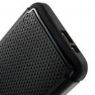 Sustiprintos apsaugos HTC One M9 juodas kieto silikono (TPU) ir plastiko dėklas