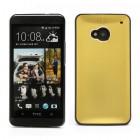 Šlifuoto metalo HTC One M7 auksinis dėklas