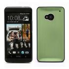 Šlifuoto metalo HTC One M7 žalias dėklas