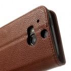 """""""Lychee"""" HTC One M8 rudas odinis atverčiamas dėklas"""