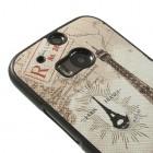 """""""My Colors"""" HTC One M8 spalvotas kieto silikono (TPU) dėklas - Eifelis, šviesiai rudas"""