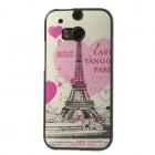 """""""My Colors"""" HTC One M8 spalvotas kieto silikono (TPU) dėklas - Eifelis, rožinis"""