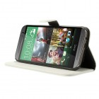 """""""Lychee"""" HTC One M8 baltas odinis atverčiamas dėklas"""