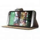 """""""Crazy Horse"""" HTC One M8 juodas odinis atverčiamas dėklas"""