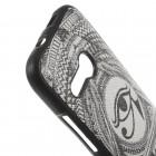 HTC One Mini 2 spalvotas kieto silikono TPU dėklas (nugarėlė) - Horo akis