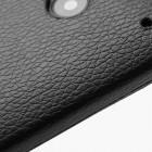 Atverčiamas odinis HTC One M7 juodas dėklas