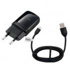 """Originalus """"HTC"""" juodas kelioninis (sieninis) įkroviklis su micro USB laidu (Europa)"""
