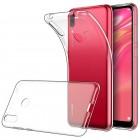 Huawei Y7 2019 (Y7 Prime 2019) skaidrus (permatomas) silikoninis TPU ploniausias pasaulyje dėklas