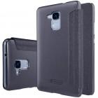 Huawei Honor 5c (Honor 7 Lite) pilkas odinis atverčiamas Nillkin Sparkle dėklas - knygutė