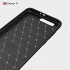 """Huawei Honor 9 (Honor 9 Premium) """"Carbon"""" kieto silikono TPU juodas dėklas - nugarėlė"""