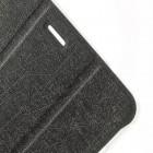 Huawei MediaPat T1 8 (Honor S8 (701W)) atverčiamas pilkas odinis dėklas - knygutė (sulankstomas)