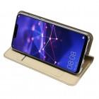 """Dux Ducis"""" Skin serijos Huawei Mate 20 Lite auksinis odinis atverčiamas dėklas"""