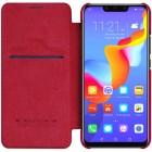 """Prabangus """"Nillkin"""" Qin serijos raudonas odinis atverčiamas Huawei Mate 20 Lite dėklas - knygutė"""