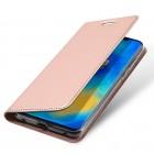 """Dux Ducis"""" Skin serijos Huawei Mate 20 Pro rožinis odinis atverčiamas dėklas"""