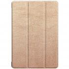 Huawei MediaPad M5 Lite 10 atverčiamas auksinis odinis dėklas - knygutė