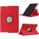 Huawei MediaPad T3 10 atverčiamas, sukamas 360 laipsnių, raudonas odinis dėklas - stovas