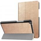 Huawei MediaPad T3 8.0 atverčiamas aukso spalvos odinis dėklas - knygutė