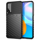"""Huawei P smart 2021 """"Rumble"""" kieto silikono TPU juodas dėklas - nugarėlė"""
