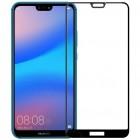 """Huawei P20 Lite (Nova 3e) """"Amorus"""" 9H Tempered Glass sustiprintos apsaugos juodas pilnai dengiantis apsauginis ekrano stiklas 0,2 mm"""