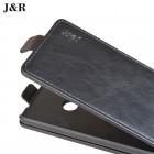 """Huawei P9 Lite 2017 (Huawei P8 Lite 2017) """"J&R"""" klasikinis vertikaliai atverčiamas juodas odinis dėklas"""