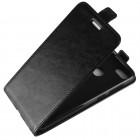 Huawei P9 Lite Mini (Y6 Pro 2017) vertikaliai atverčiamas juodas odinis dėklas - piniginėHuawei P9 Lite Mini (Y6 Pro 2017) vertikaliai atverčiamas juodas odinis dėklas - piniginė