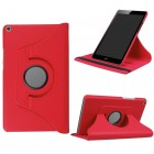 Huawei MediaPad T3 8.0 atverčiamas, sukamas 360 laipsnių, raudonas odinis dėklas - stovas