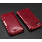 """""""Kalaideng"""" Royale atverčiamas raudonas odinis Apple iPhone SE (5, 5s) dėklas"""