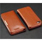"""""""Kalaideng"""" Royale atverčiamas rudas odinis Apple iPhone SE (5, 5s) dėklas"""