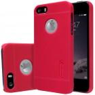 """Raudonas """"Nillkin"""" Frosted Shield serijos Apple iPhone SE (5, 5s) dėklas (dėkliukas) su apsaugine ekrano plėvele"""