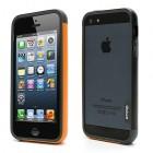 """Oranžinės, juodos ir pilkos spalvų """"Walnutt"""" Trio kieto silikono (TPU) Apple iPhone SE (5, 5s) dėklas (rėmelis) - kraštų apvadas, bamperis, angliškai vadinamas tiesiog iphone bumper"""