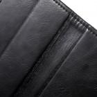Mercury Blue Moon atverčiamas Apple iPhone SE (5, 5s) juodas odinis dėklas - piniginė