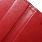 Mercury Blue Moon atverčiamas Apple iPhone SE (5, 5s) raudonas odinis dėklas - piniginė
