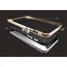 """""""Rock"""" Royce sustiprintos apsaugos Apple iPhone 5 (5s,SE) juodas aukso spalvos apvadais kieto silikono (TPU) ir plastiko dėklas"""