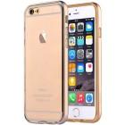 Apple iPhone 6 (6s) Devia Fresh plastikinis skaidrus permatomas dėklas su auksiniu rėmeliu
