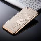 Apple iPhone 6 (6s) JOYROOM Butterflies plastikinis skaidrus permatomas auksinis dėklas su kristalais