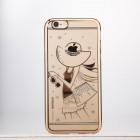 Apple iPhone 6 (6s) JOYROOM Summer Girl plastikinis skaidrus permatomas auksinis dėklas su kristalais