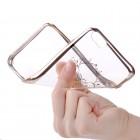 Apple iPhone 6s Plus Devia Iris Diamond silikoninis skaidrus permatomas auksinis dėklas su kristalais