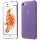 Ploniausias pasaulyje plastikinis skaidrus Apple iPhone 7 violetinis dėklas - nugarėlė