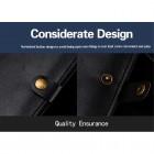 """Solidi """"JLW"""" juoda odinė universali įmautė - piniginė (XL dydis)"""