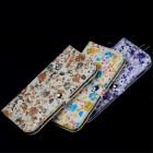 """Solidi """"JLW"""" Flower balta odinė universali įmautė - piniginė (L dydis)"""
