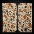 """Solidi """"JLW"""" Flower ruda odinė universali įmautė - piniginė (L dydis)"""