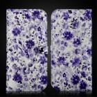 """Solidi """"JLW"""" Flower violetinė odinė universali įmautė - piniginė (L dydis)"""
