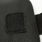 Juoda odinė įmautė telefonui su kišenėle (L dydis - Apple iPhone 6)