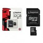 """""""Kingston"""" MicroSD atminties kortelė 32 Gb, 10 Klasė su SD adapteriu"""