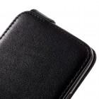 HTC 10 (M10 Lifestyle) klasikinis vertikaliai atverčiamas juodas odinis dėklas