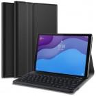 """Lenovo Tab M10 10.1"""" HD 2 Gen (X306F, X306X) atverčiamas juodas odinis dėklas su bluetooth belaide klaviatūra atverčiamas juodas odinis dėklas su bluetooth belaide klaviatūra"""