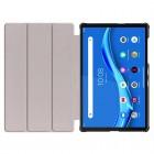 """Lenovo Tab M10 10.1"""" HD 2 Gen (TB-X306F, X306X) atverčiamas pilkas odinis dėklas (sulankstomas)"""