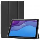 """Lenovo Tab M10 10.1"""" HD 2 Gen (X306F, X306X) solidus atverčiamas juodas odinis dėklas - knygutė (sulankstomas)"""