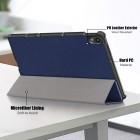 """Lenovo Tab P11 11"""" (J606F) atverčiamas mėlynas odinis dėklas (sulankstomas)"""
